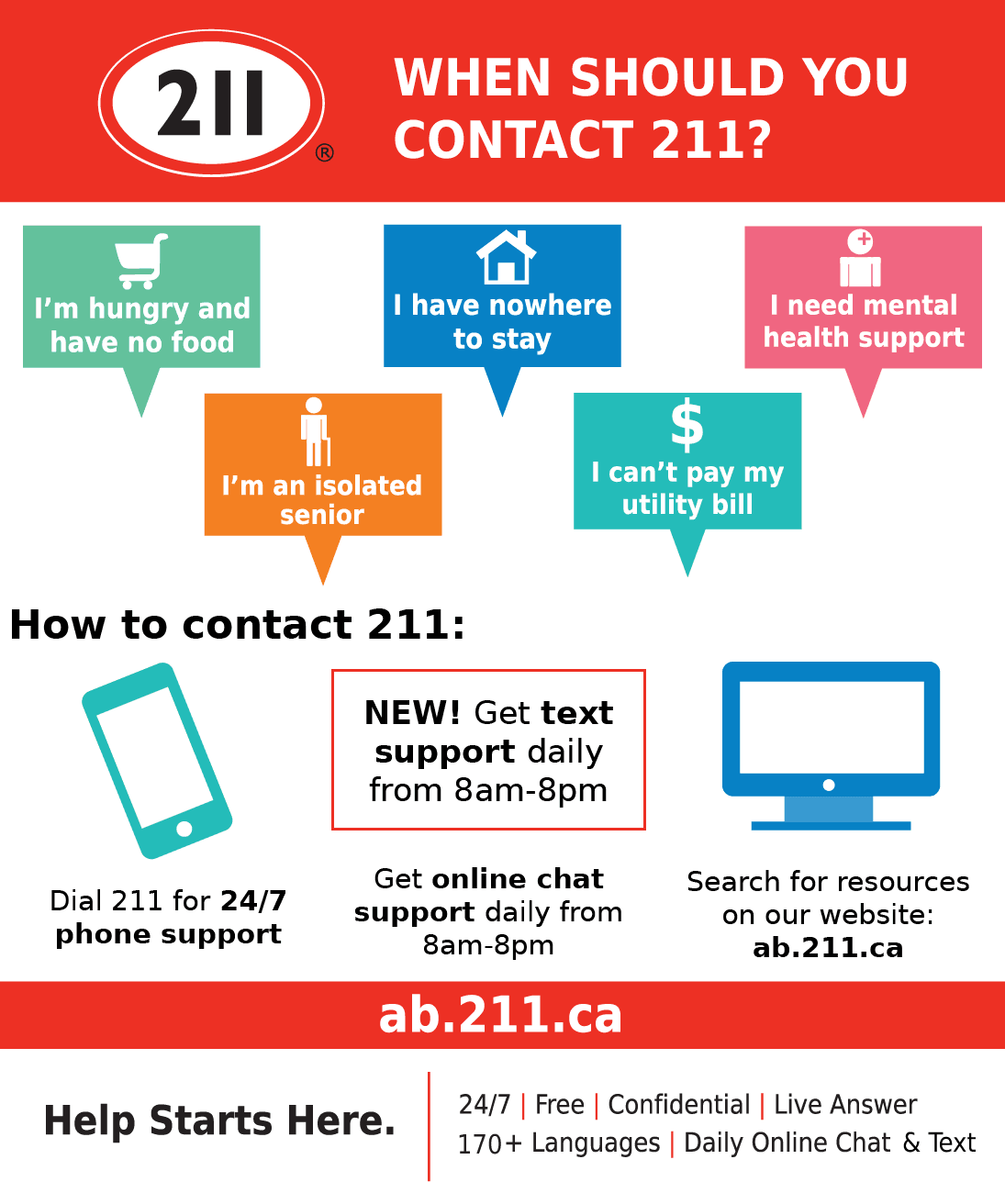 Call 211 flyer