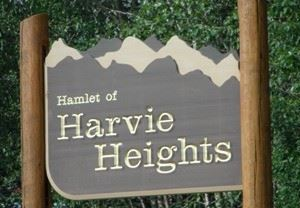 Sign for Harvie Heights