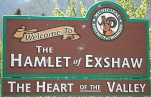 Sign for Hamlet of Exshaw
