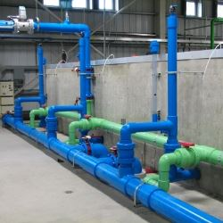 green and blue pipes